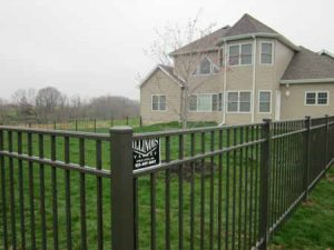 SATIN BLACK FLAT TOP FENCE